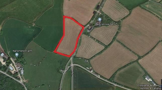 Thumbnail Land for sale in Perranporth, Truro, Cornwall
