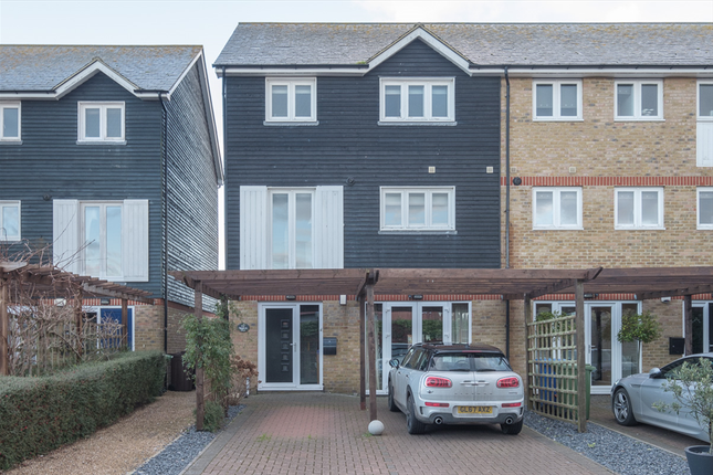 Thumbnail End terrace house for sale in Waterside Close, Faversham, Kent