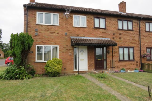 Thumbnail End terrace house to rent in Roebuck Drive, Lakenheath, Brandon