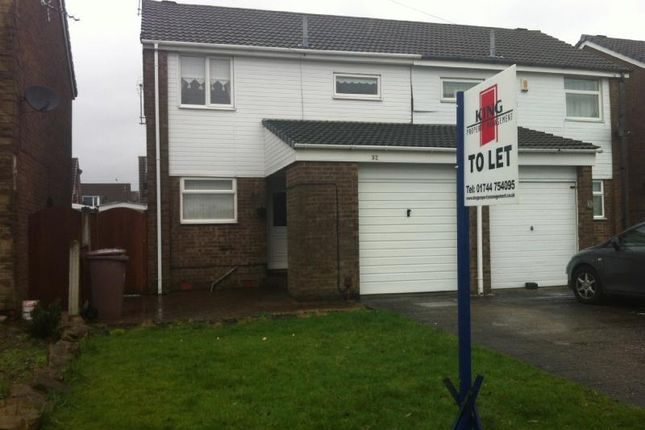 Thumbnail Semi-detached house to rent in Wedge Avenue, Haydock, St Helens