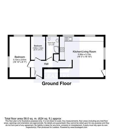 Floorplan of Cannon Court, 50 Cannon Grove, Leatherhead KT22