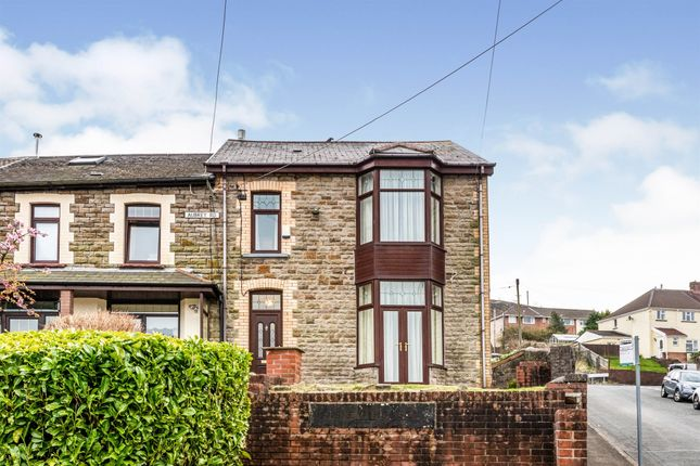Thumbnail End terrace house for sale in Aubrey Road, Porth