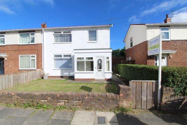 Thumbnail Semi-detached house to rent in Hartford Crescent, Ashington