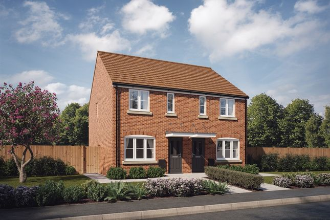 """Thumbnail Semi-detached house for sale in """"The Alnwick Special """" at Spetchley, Worcester"""