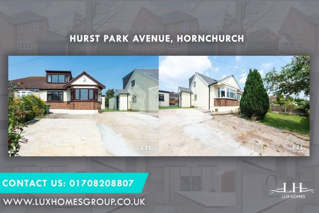 Thumbnail Bungalow for sale in Hurst Park Avenue, Hornchurch
