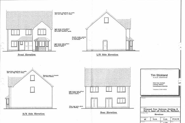 Thumbnail Detached house for sale in Llys Y Brenin, Whitland, Carmarthenshire