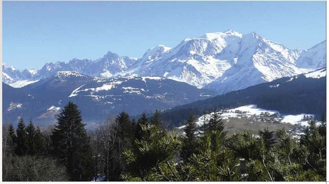 Panoramic Views of Combloux, French Alps, France