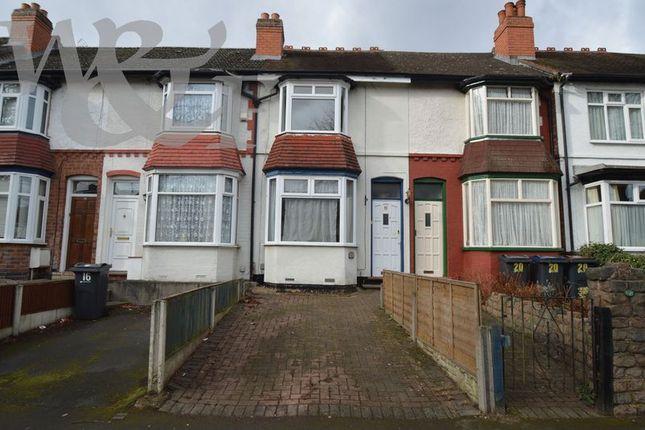 Thumbnail Terraced house for sale in Milverton Road, Erdington, Birmingham