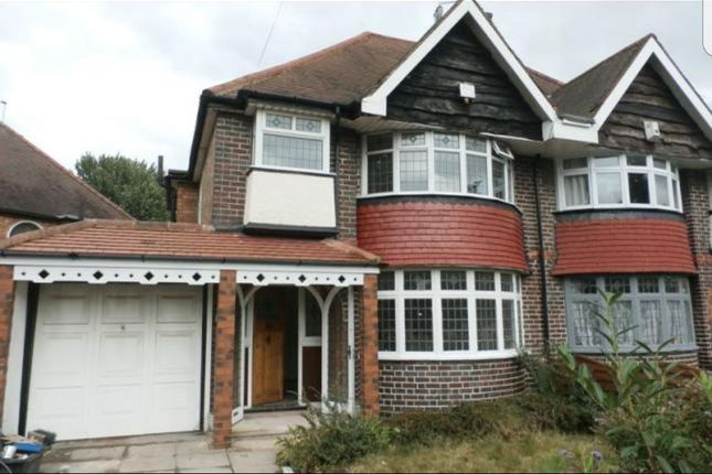 Thumbnail Semi-detached house for sale in Fox Hollies Road, Birmingham