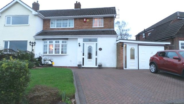Thumbnail Semi-detached house for sale in Greenway The, Sutton Coldfield, West Midlands