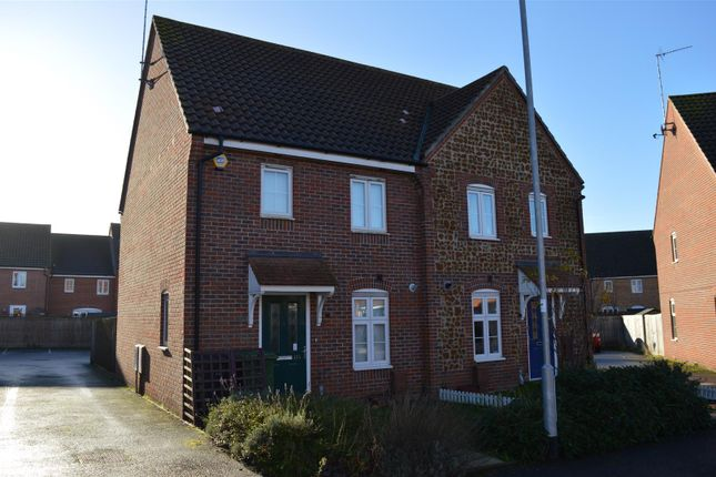 Thumbnail Semi-detached house for sale in Anthony Nolan Road, King's Lynn