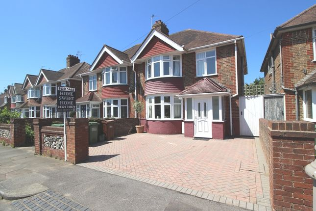 Thumbnail Semi-detached house for sale in Astaire Avenue, Roselands, Eastbourne