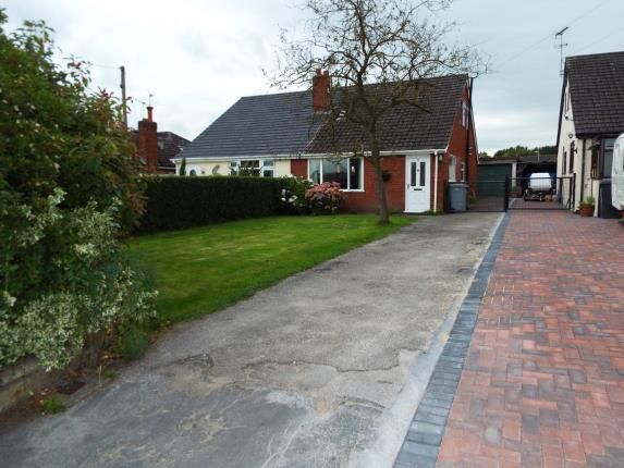 Thumbnail Bungalow for sale in Cemetery Road, Weston, Crewe, Cheshire