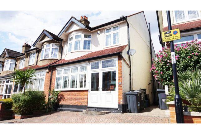 Thumbnail End terrace house for sale in Waddon Park Avenue, Croydon