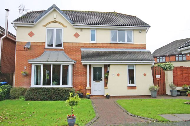 Thumbnail Detached house for sale in Harlyn Gardens, Penketh, Warrington