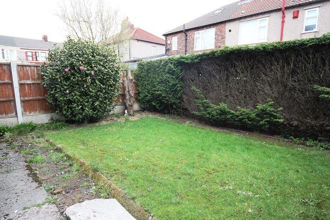 Garden of Grantley Road, Wavertree, Liverpool L15