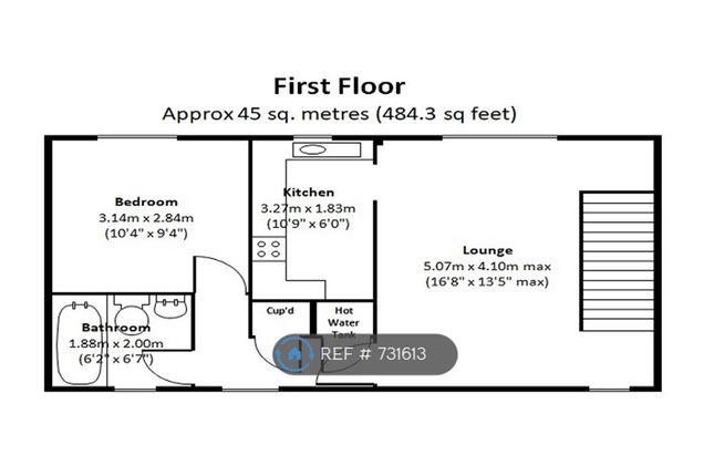 First Floor Plan of The Rowans, Milton, Cambridge CB24