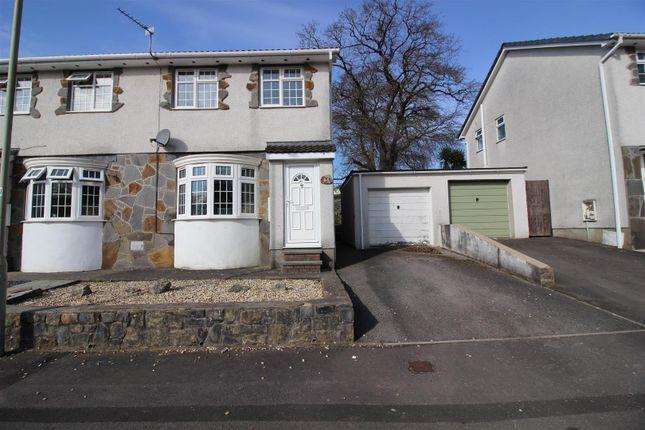 Thumbnail Semi-detached house for sale in Ty Gwyn Drive, Brackla, Bridgend