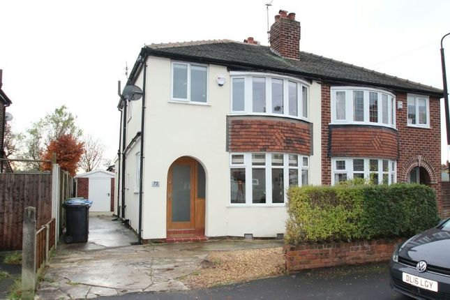 Thumbnail Semi-detached house to rent in Brunswick Road, Altrincham