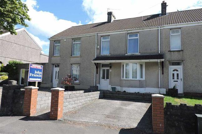 Thumbnail Terraced house for sale in Llangyfelach Road, Tirdeunaw, Swansea