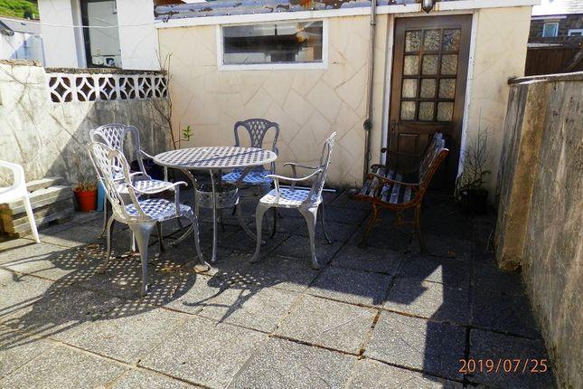 Rear Garden of Victoria Street, Treherbert, Rhondda Cynon Taff. CF42