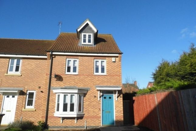 Thumbnail End terrace house to rent in Hardwicke Close, Grantham