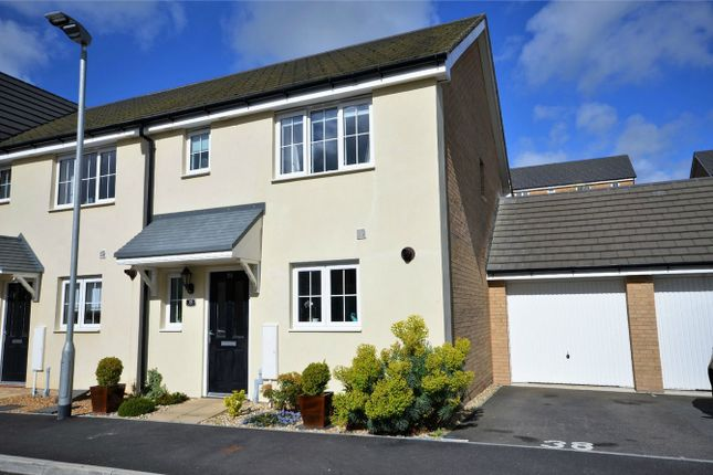 Thumbnail Semi-detached house for sale in Centenary Way, Threemilestone, Truro, Cornwall