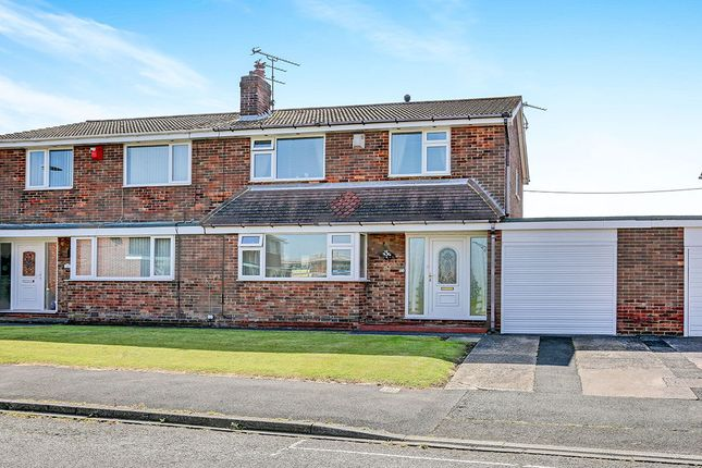 Thumbnail Semi-detached house for sale in Bamburgh Close, Blyth