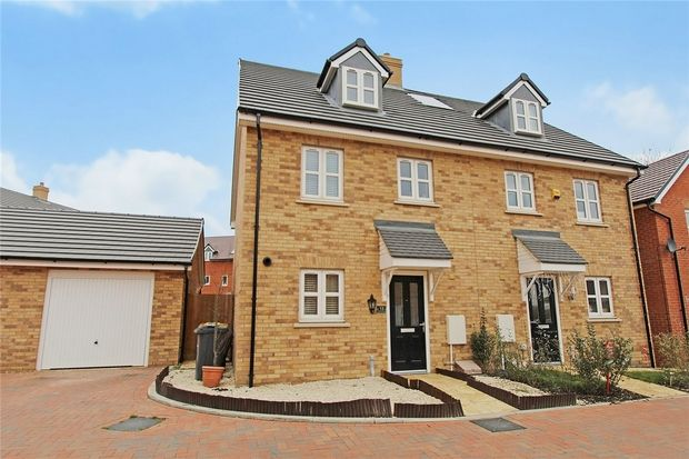 Semi-detached house for sale in Radcliffe Mews, Shortstown, Bedford