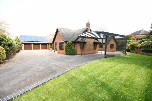 Thumbnail Detached bungalow for sale in Sandy Lane, Newcastle-Under-Lyme