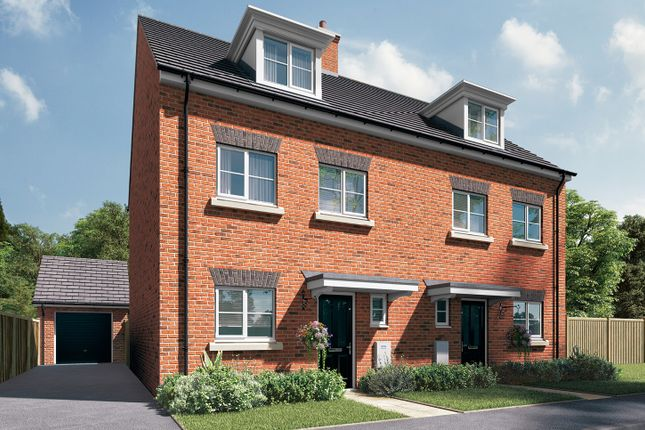 "Thumbnail Semi-detached house for sale in ""The Heywood"" at Station Approach, Westbury"