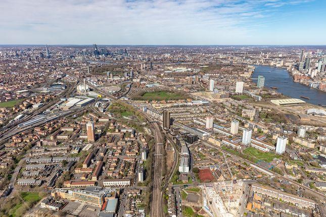 Aerial Shot of Moulding Lane, Deptford, London SE14