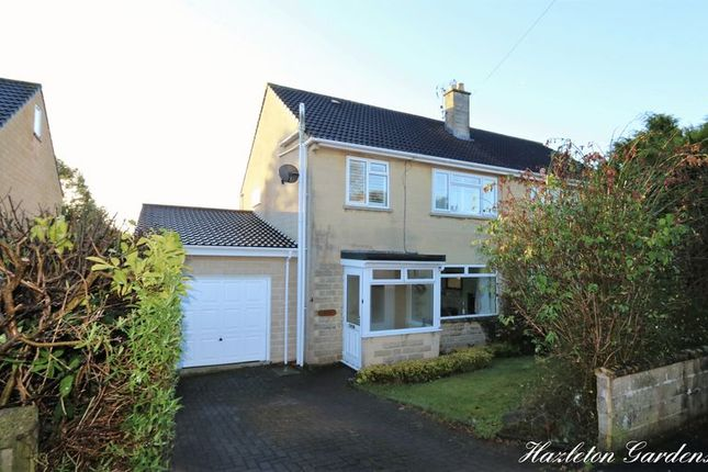 Thumbnail Semi-detached house for sale in Hazleton Gardens, Claverton Down, Bath
