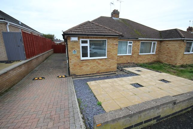 3 bed semi-detached bungalow for sale in Harvey Road, Wellingborough, Northamptonshire. NN8