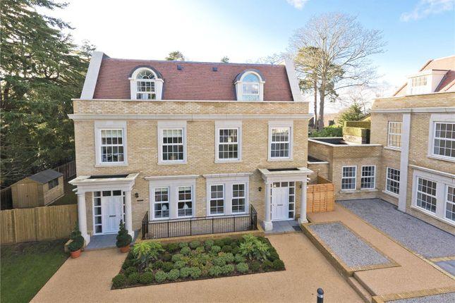 Thumbnail Semi-detached house for sale in Ridgewood, Brooklands Road, Weybridge, Surrey