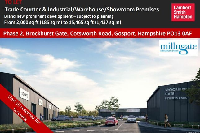 Thumbnail Retail premises to let in Phase 2 Brockhurst Gate, Cotsworth Road, Gosport, Hampshire