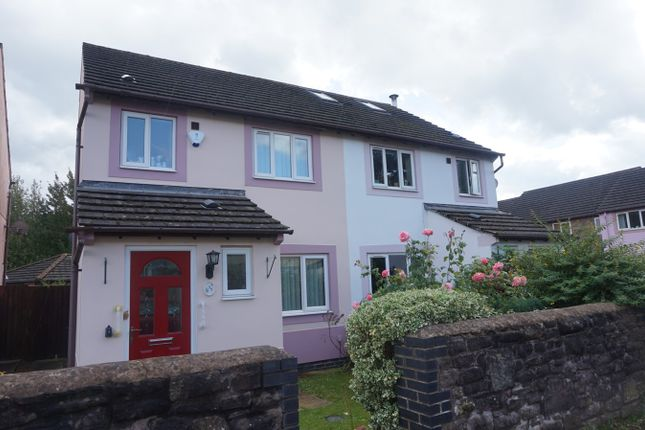 Thumbnail Semi-detached house for sale in Waterside, Abergavenny
