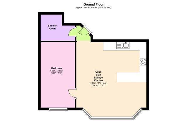 Floor Plan of Upper Grosvenor Road, Tunbridge Wells, Kent TN1