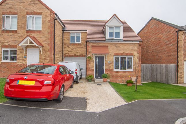 Thumbnail Semi-detached house for sale in Dewhirst Close, Leadgate, Consett, Durham