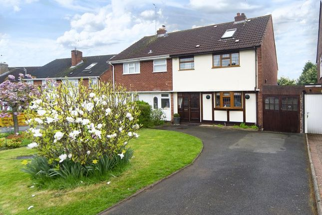 Thumbnail Semi-detached house for sale in Windsor Gardens, Castlecroft, Wolverhampton