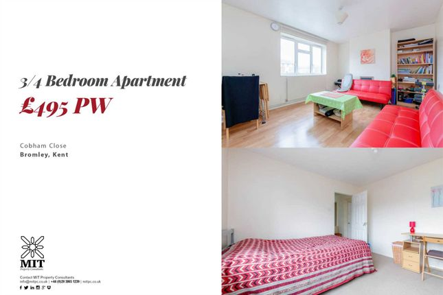 Thumbnail Flat to rent in Cobham Close, Bromley