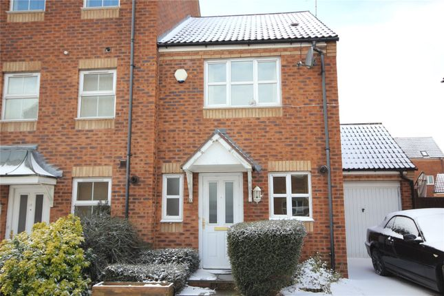 Thumbnail End terrace house to rent in High Hazel Drive, Mansfield Woodhouse, Nottinghamshire