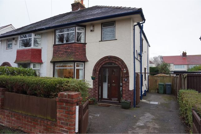 Thumbnail Semi-detached house for sale in Warwick Road, Wirral