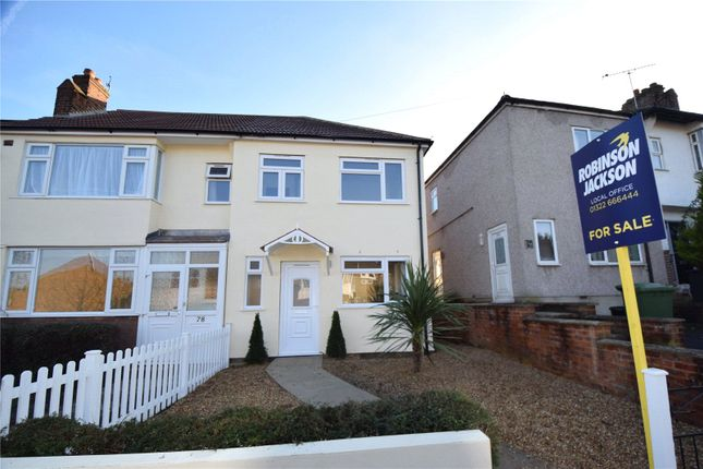 Thumbnail End terrace house for sale in Lullingstone Avenue, Swanley, Kent