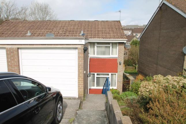 Thumbnail Semi-detached house to rent in Holmwood Avenue, Goosewell, Plymstock, Plymouth