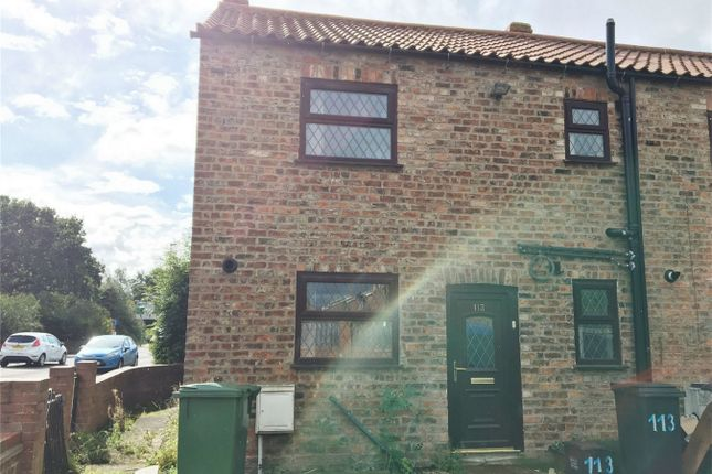 Thumbnail End terrace house to rent in Strensall Road, Earswick, York