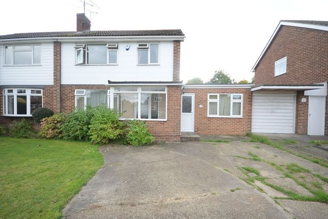 Thumbnail Semi-detached house to rent in Lavenham Drive, Woodley, Reading