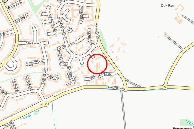 Plot Map of Newgate Close, St. Albans, Hertfordshire AL4