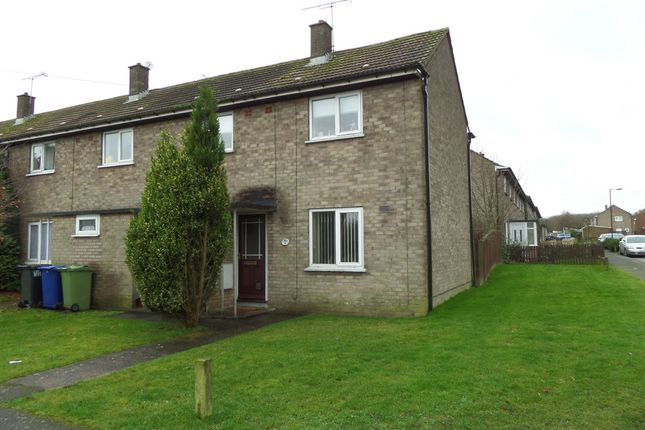 Thumbnail End terrace house for sale in Capper Avenue, Hemswell Cliff, Gainsborough