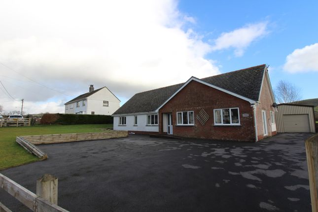 Thumbnail Detached bungalow for sale in Crugybar, Llanwrda